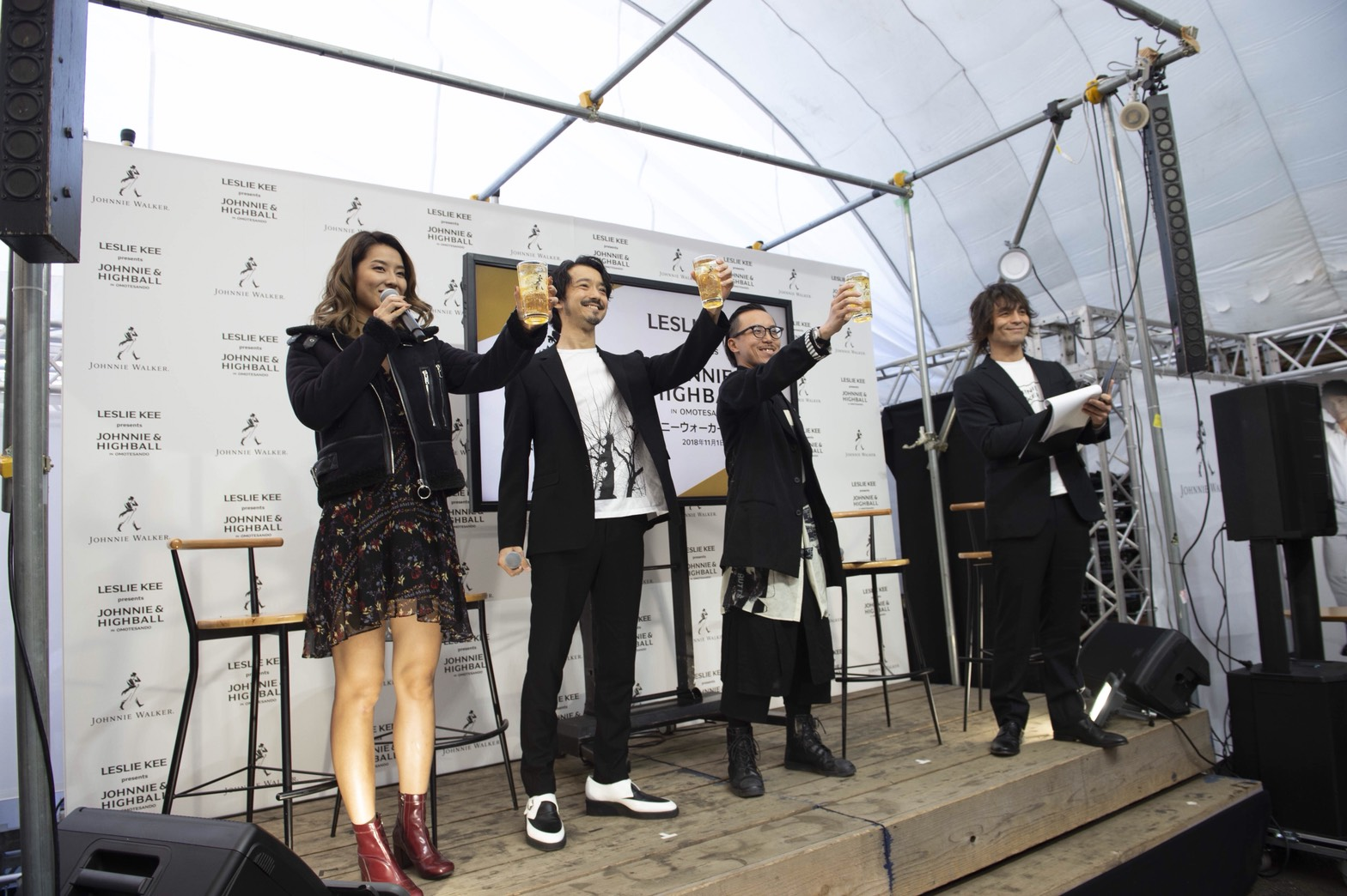 「JOHNNIE & HIGHBALL in OMOTESANDO」プレス発表会&Opening Party MC!!